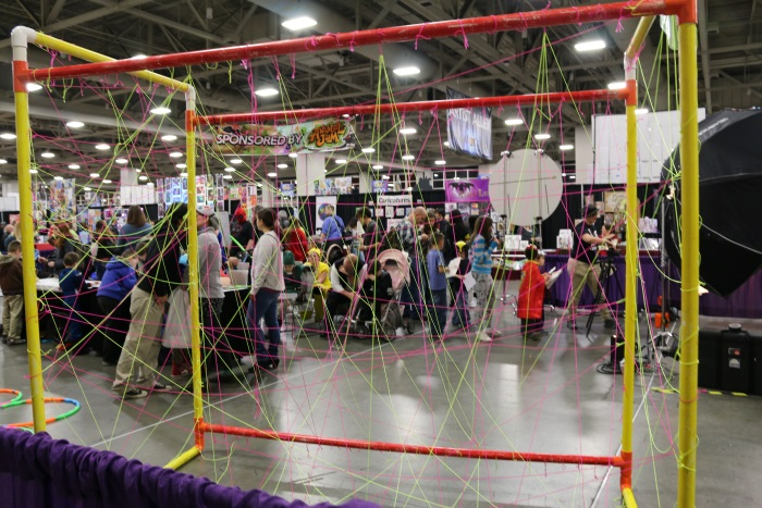 KIDCON corner, as seen through the laser obstacle course.