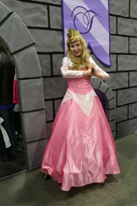 Princess Aurora, outside the Princess Tea Party booth.