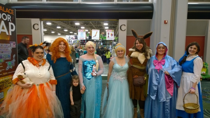 Princess Merida, Queen Elsa, Cinderella, and Belle (and others).