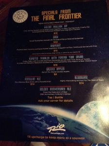 Star Trek Menu