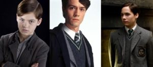Composite images of Tom Riddle throughout the Harry Potter films